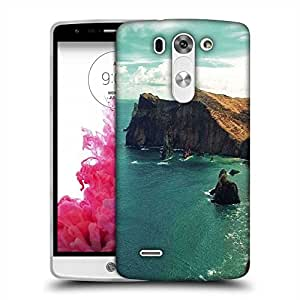 Snoogg Green Water Near Mountain Designer Protective Phone Back Case Cover For LG G3 BEAT STYLUS