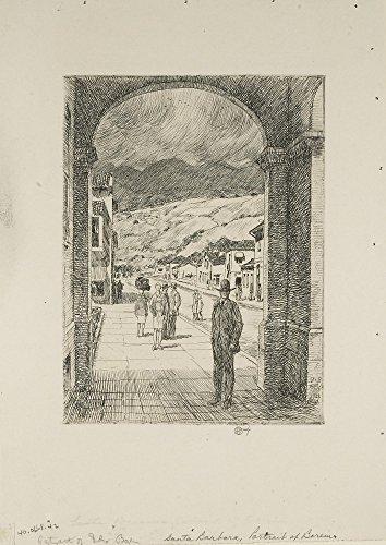 Das Museum Outlet-Santa Barbara, 1927-Poster Print Online kaufen (76,2x 101,6cm)