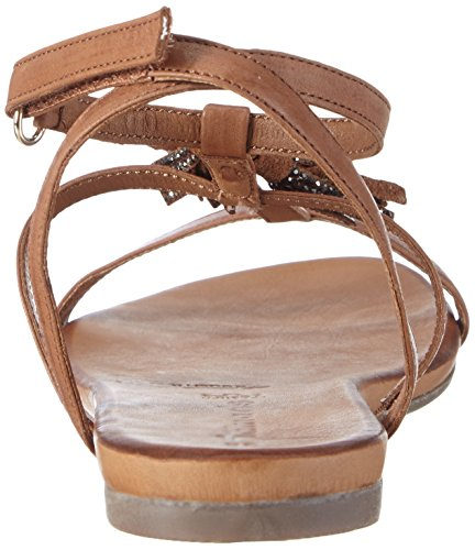 Tamaris - 28124, Scarpe col tacco con cinturino a T Donna Marrone (Braun (NUT 440))