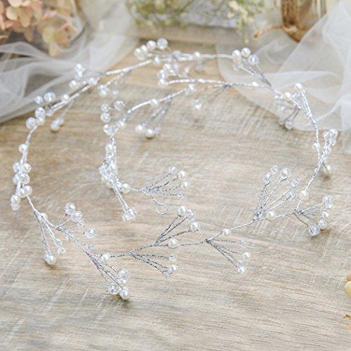 handcess Hochzeit Haarband Braut Haar-Kristall Blume Boho-Accessoires für -