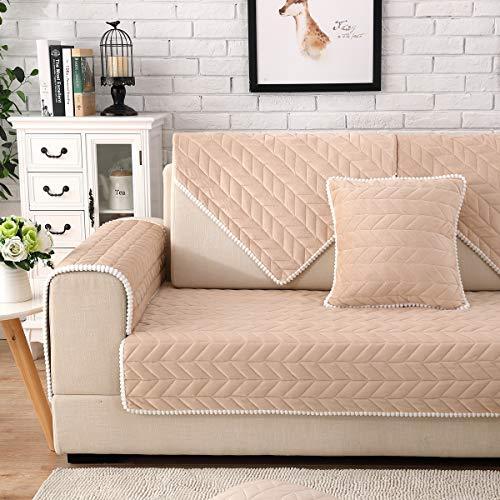 Huanzi sofa bambino divano copridivano 1 pezzo, adatto per tre posti con penisola sfoderabile per animali domestici/bambini copridivano,beige,1piece90*90cm