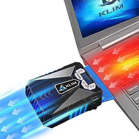 KLIM - Refrigerante Gaming para Ordenador Portátil [versión 2016] – Ventilador de Alto Rendimiento – Aspiradora de Aire USB, color