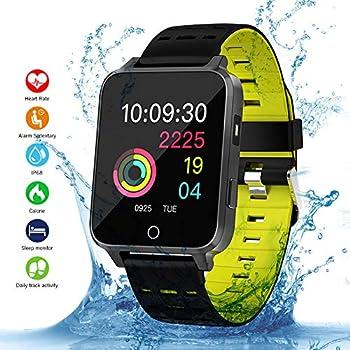 Qimaoo Smartwatch Fitness Watch con Monitor de presión Arterial Monitor de Ritmo cardíaco, Reloj Inteligente IP68 Sport Watch Sport Activity Tracker ...