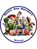 Toy Story Personalised Premium Rice Paper Cake Topper (7.5