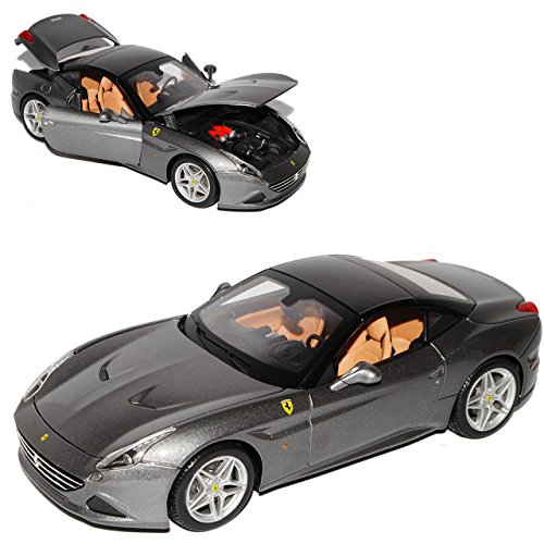 Bburago Ferrari California T Turbo Cabrio mit Hard Top Grau Schwarz Ab Facelift 2014 Signature 1/18 Modell Auto