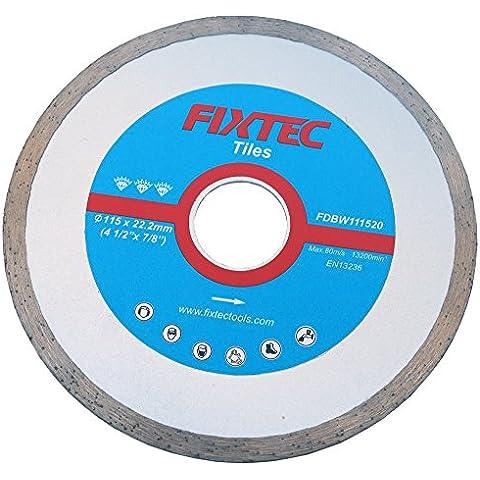 FIXTEC Expert, 115x 22,2mm, disco da taglio diamantata a segmento Lama per smerigliatrice angolare fdbw111520