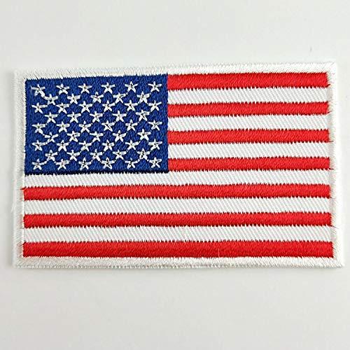 Motorrad-Patches dünne rote weiße Linie Morale Sterne auf blauem Hintergrund taktische US Flagge getragene schwarze United Jeans Frauen bestickt Patch -