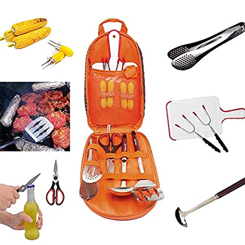 Barbecue Tools 17 Pieces Bbq Utensils Set Camping Cooking Utensils