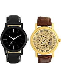 New Stylish Best Designer Combo Hand Analog Watch - For Men (O-L-05) Pack Of -2