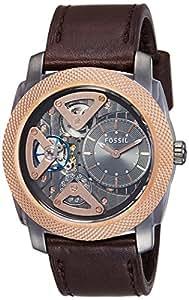 Fossil Men's Quartz Watch Mechanical Twist ME1122 mit Lederarmband