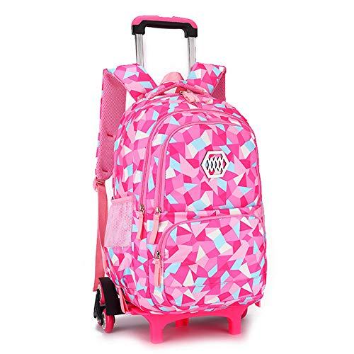 GJF Mädchen auf Rädern Rucksack, abnehmbare Trolley Reisetasche, Drawstring Nylontasche, Business Travel Holiday School-5 (Mädchen Drawstring-rucksack)