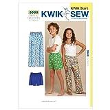 KwikSew Schnittmuster 3589 Kinderhose 6-7-8-9-10 (122-142)