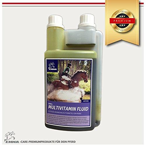 Zink Kombination (Multivitamin für Pferde, Vitaminstoss mit Zink, Ergänzungsfutter 1 Liter)