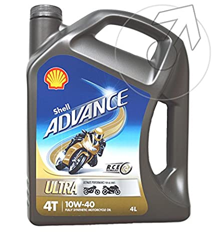 Shell Advance Ultra 4T 10w-40 Performance Synthetic Bike Engine Oil 4 litre