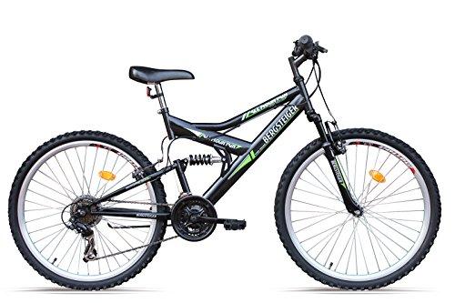 Bergsteiger Mountainbike 24 Zoll für Kinder /All Mountain/, MTB, geeignet für 8 - 11 Jahre, 18 Gang, vollgefedert