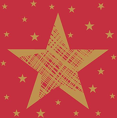 Duni Cocktail - Servietten Shining Star Red 24 x 24 cm 20 St.