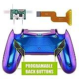 eXtremeRate Dawn Programmable Remap Kit pour PS4 Manette Contrôleur avec Mod Chip & Coque Arrière Modifiée & 4 Boutons Arrières-Compatible avec JDM 040 /050/055-Caméléon Violet Bleu
