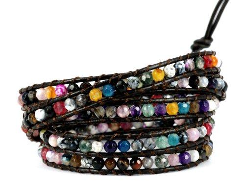 blueyes-collection-misteriosa-rainbow-color-corte-facetado-agata-pulsera-de-piel-5-wraps-4-mm-bead