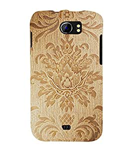 printtech Wooden Pattern Back Case Cover for Micromax Canvas 2 A110 / Micromax Canvas 2 Plus A110Q