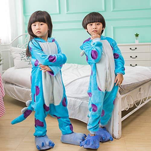 Pyjamas Kinder Tier-Schlafanzug Jumpsuit Nachtwäsche-Plüsch Einteiler Overall-Halloween Karneval -