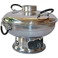 Xxl 25 Cm. ( Di 9.5inch ) Tom Yum Pot,thai Food,aluminum Hot Heated Serving Soup Bowl Kung Goong Prawn by WhiteSHOP14