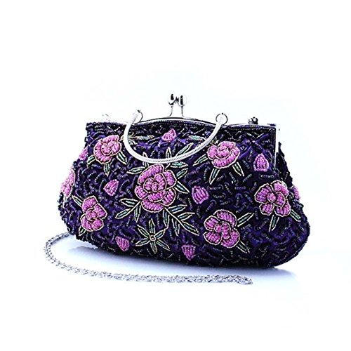 Paillettes/La cena/Folk stile clutch bag/ borsa a mano di perline-C