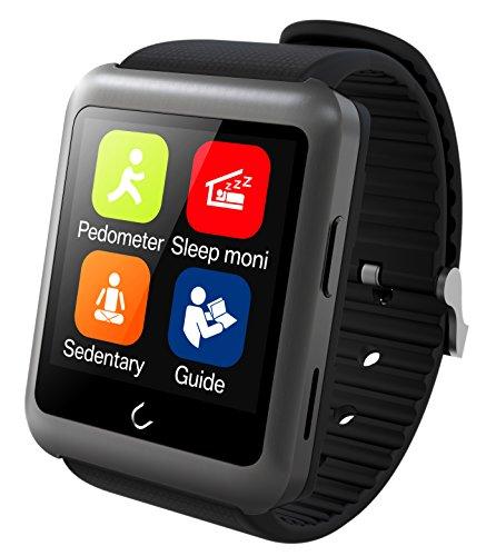 UWatch SmartWatch U11-Reloj Bluetooth Smart Tarjeta SIM admitida color Gris oscuro