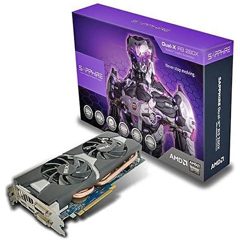 Sapphire Radeon R9 280X - Tarjeta gráfica (Radeon R9 280X, 4096 x 2160 Pixeles, AMD, 3072 MB, GDDR5-SDRAM, 384 Bit) - Edición Overclock