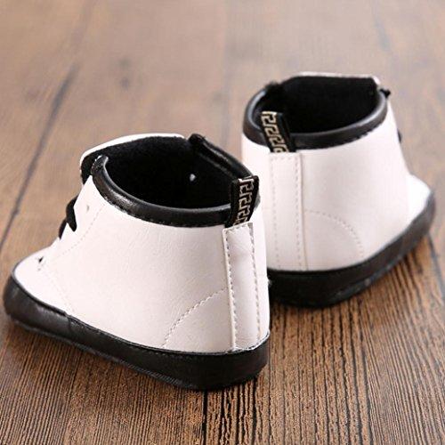 Xinantime , Chaussures premiers pas pour bébé (fille) blanc blanc 0~6 Month(UK:1.5) blanc
