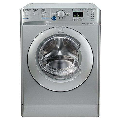 Indesit BWA81483XSUK Innex 8kg 1400rpm Freestanding Washing Machine-Silver Best Price and Cheapest