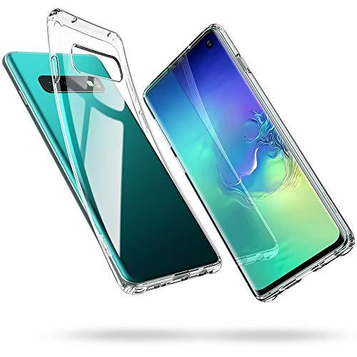 ESR Essential Zero TPU Hülle kompatibel mit Samsung Galaxy S10 Hülle - Weiche Flexible Silikon Handyhülle - Transparente Schutzhülle mit Kameraschutz und Mikrodot Muster- Klar