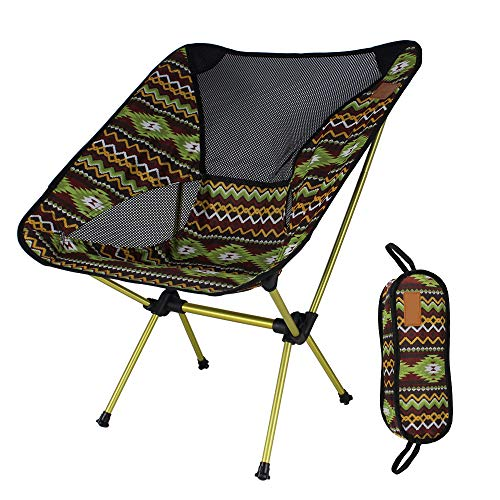 ABEDOE Klappstuhl, Ultraleicht Tragbare Klappsitz Compact Outdoor Camping Stuhl Angeln Reise Strand Picknick Sitz Festival Wandern Klappstuhl (Kaffeefarbe) - Tragbare Camping-stuhl