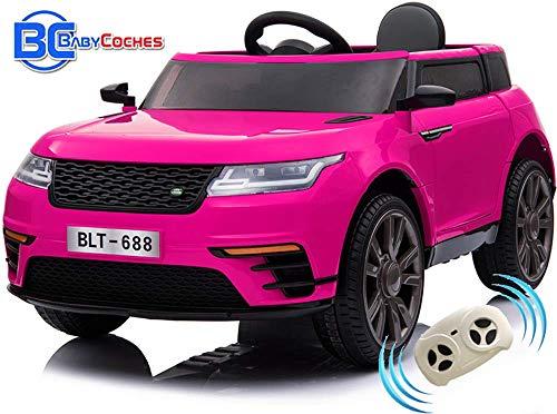 BC BABY COCHES Urban SUV Coche eléctrico para niñas y niños con batería 12v y Mando Control teledirigido para Padres (Rosa)...