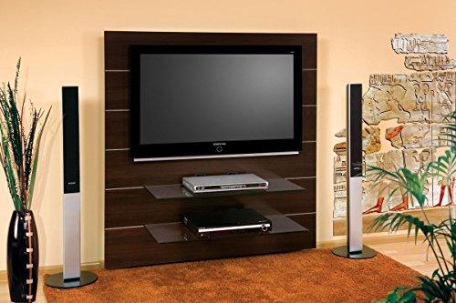 TV Wand HN-111 Walnuss Wenge TV Rack LCD inkl. TV-Halterung