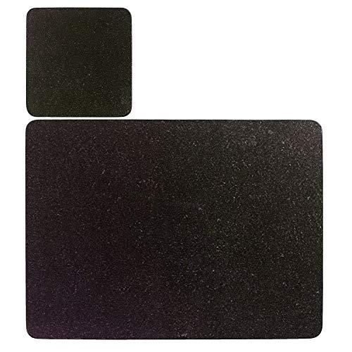 ProCook - Set de 4 Sets de Tables et 4 Dessous de Verre Effet Granite