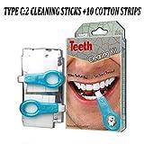 Nano Teeth Whitening Kit Werkzeuge Zahnreinigung Aufheller Pinsel Zahnflecken Gel Streifen Rauch Zähne Tools Kit,C