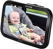 Espejo Retrovisor Coche de VicTsing para Vigilar al Bebé en el Coche, 360° Ajustable Irrompible Interior Espej