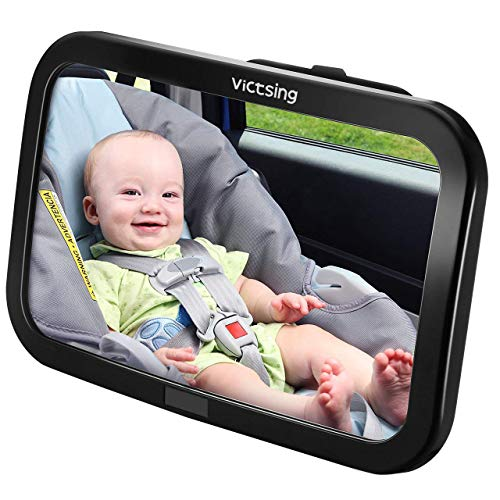 Espejo Retrovisor Coche de VicTsing para Vigilar al Bebé en el Coche, 360° Ajustable Irrompible Interior...