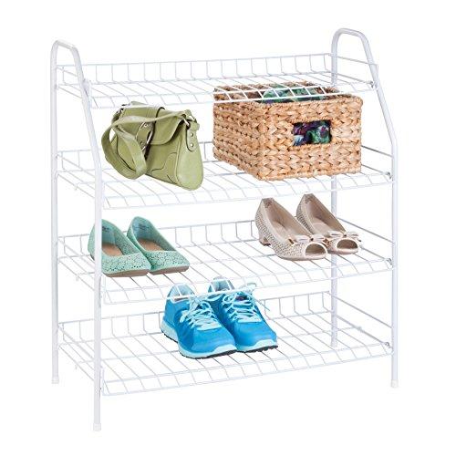 Top Home Solutions® 4ripiani bianco Wire shoe rack, può contenere fino a 12paia di scarpe