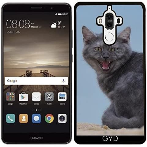 Coque Silicone pour Huawei Mate 9 - Dangereux Chat Animal
