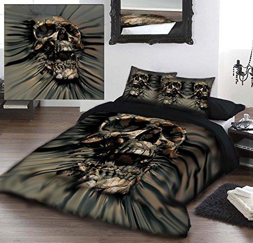 SKULL PIR THRU Kingsize Bed Duvet Pillow &-Set di biancheria da letto con licenza ufficiale David Penfound