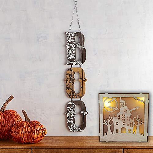 ration im Freien, hölzerne Halloween-Quadrat-Laser-Höhle mit hängender Dekoration des LED-Lichtes für die Partei Innen im Freien beängstigend ()