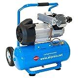 Airpress - Compressore mobile ad aria compressa, 3 CV, max. 10 bar, 25 l, capacità di aspirazione 350 l/min, oliata
