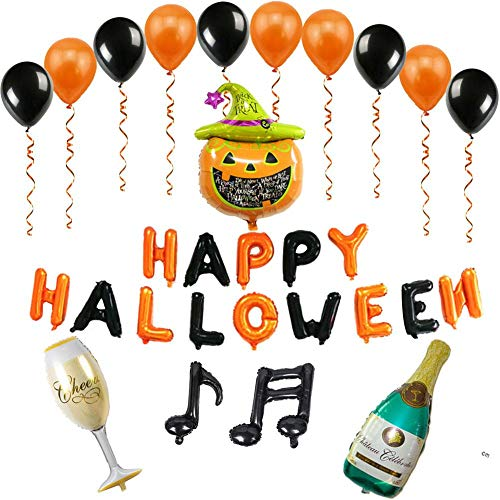 alloween Party Luftballons Set, Happy Halloween Brief Aluminium Film Luftballons Kürbis Ballons Party Supplies für Halloween Party Dekoration ()