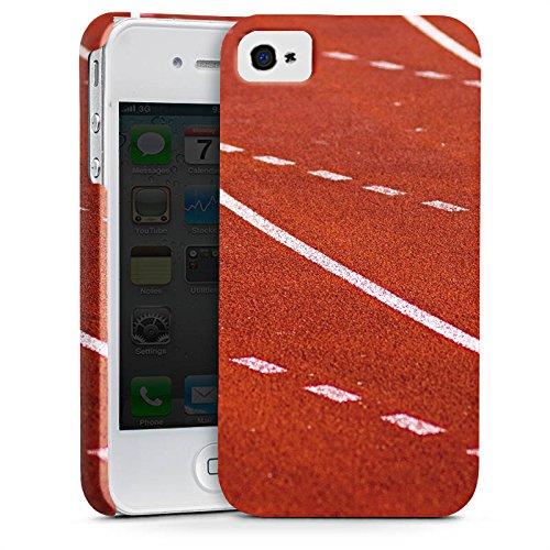 Apple iPhone X Silikon Hülle Case Schutzhülle Rennen Laufbahn Sprinten Premium Case glänzend