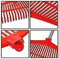 circulor Laubrechen Mit Stiel, Laubbesen Besen Verstellbar, 26 Zähne Garten Kunststoff Gras Garten Garten Hacke Gras Garten Werkzeug