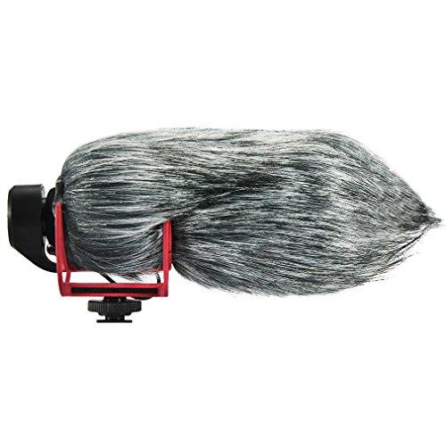 FIRST2SAVVV TM-GO-01 Microfono Parabrezza Copertura Antivento Shell Cuffia Antivento in Pelliccia Sintetica per Microfoni a Fucile per RØDE VideoMic Go. RODE Go