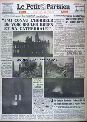 PARISIEN LIBERE EDITION DE PARIS 5 HEURES (LE) [No 24382] du 03/06/1944