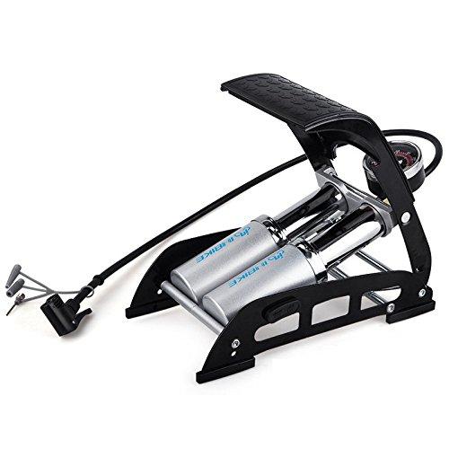 FANFAN Fußpumpe Luftpumpe Hochdruck-Luft Pumpe Pedal Portable Fahrrad Elektro Motorrad-Auto Universal (Fahrrad Portable Luft-pumpe)