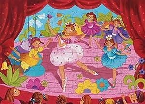 Djeco DJ07227 - Puzzle con marco (DJ07227) - Puzzle silueta La bailarina, Juguete Puzzle A partir de 4 años